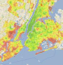 New York City Walkscore (green = more walkable) streetsblog.org