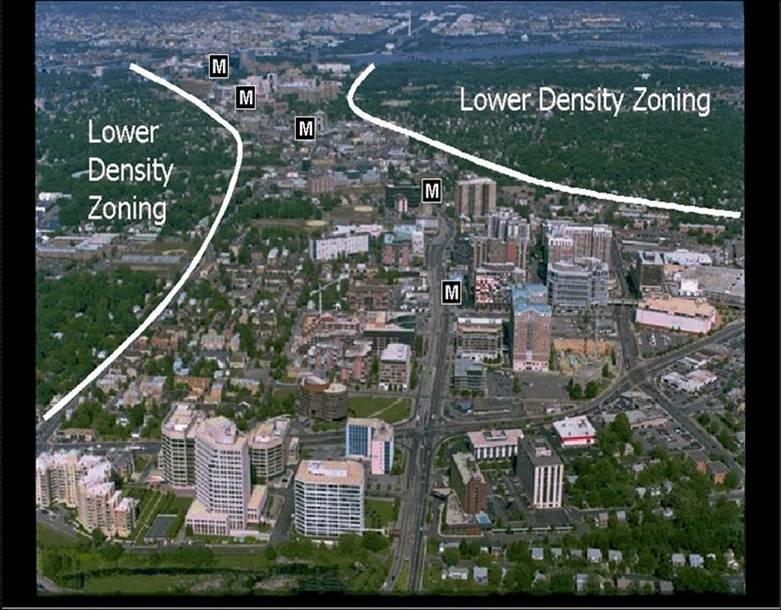 Rosslyn-Ballston Corridor, Arlington (Today with TOD)