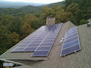 Solar Panels on a House in Rome, GA solarenergy-usa.com