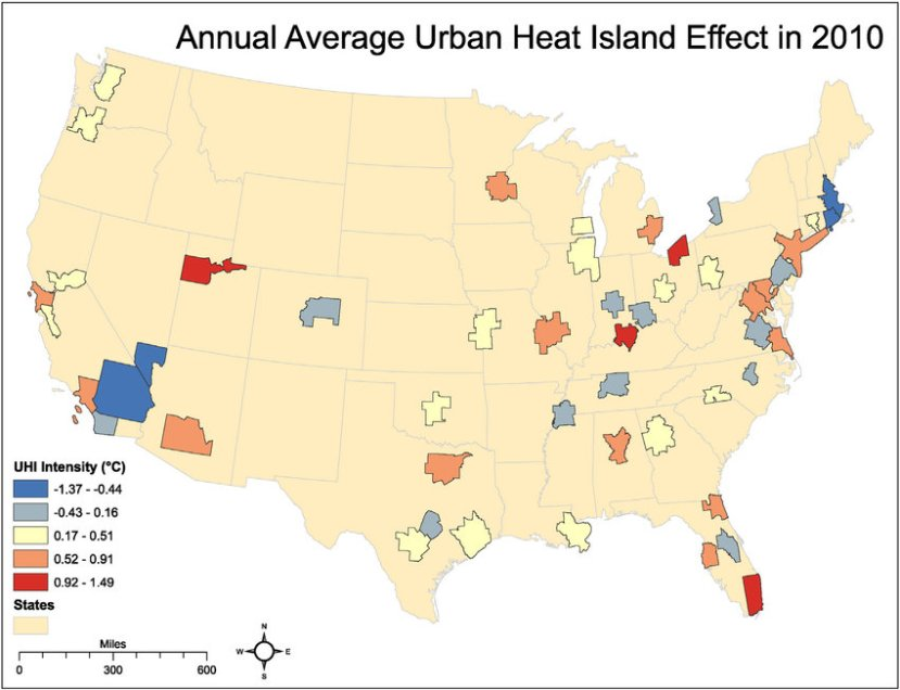 Heat Island Effect Map
