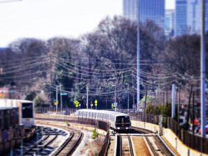 MARTA Train Along Dekalb Avenue