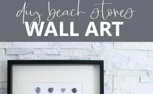 Diy Wall Art Beach Stone Home Decor Sustain My Craft Habit