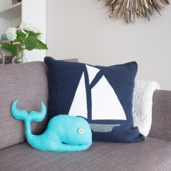 Beach Themed Sofa Pillows Simmons Bonded Leather And Loveseat Diy With Felt Fabric  Sustain My