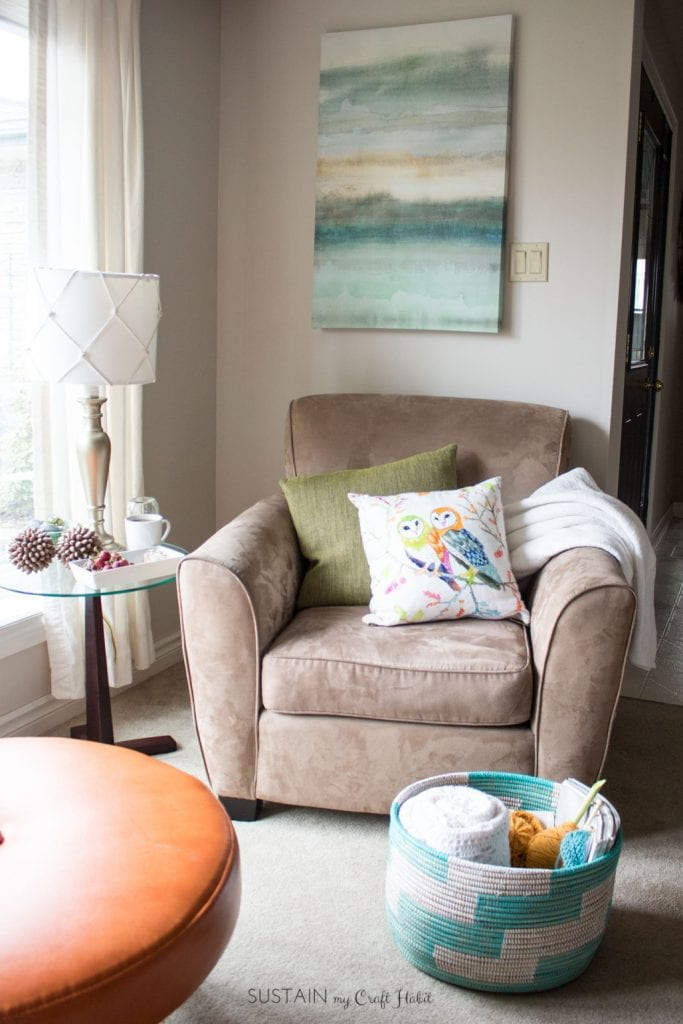 Cozy Living Room Decor Ideas Plus Self Care Tips For Busy Moms Sustain My Craft Habit