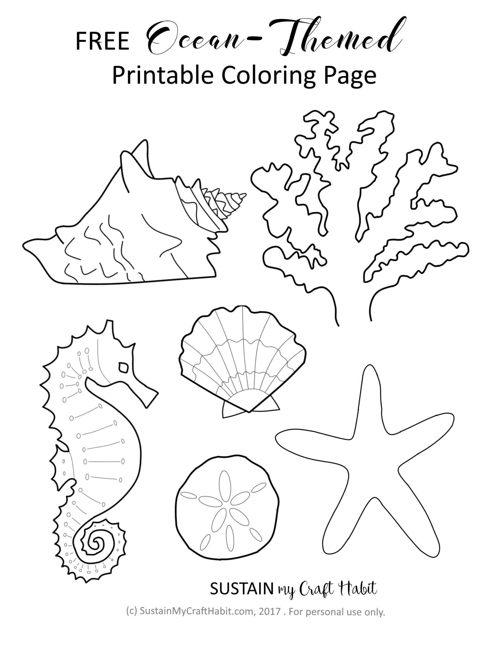 Ocean Theme Coloring Pages Coloring Pages