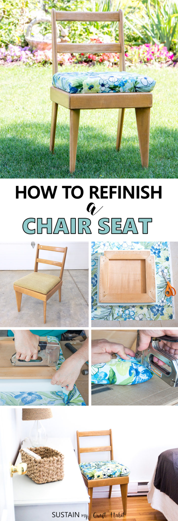 how to diy reupholster a chair kids game seat  sustain my craft habit