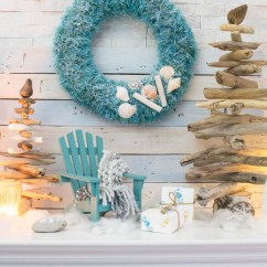 Mini Adirondack Chairs Chair Cover Rentals In New Orleans Cozy Coastal Christmas Mantel Teal And White – Sustain My Craft Habit