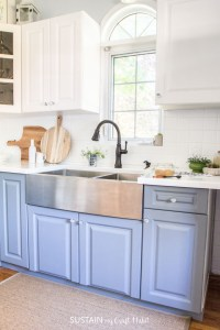 How to Paint Kitchen Cabinets without Sanding  Sustain My ...