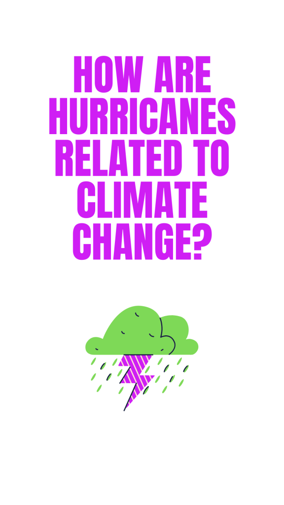 How are hurricanes related to climate change?