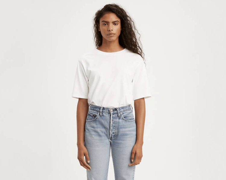 Cotton white t shirt from Levi's