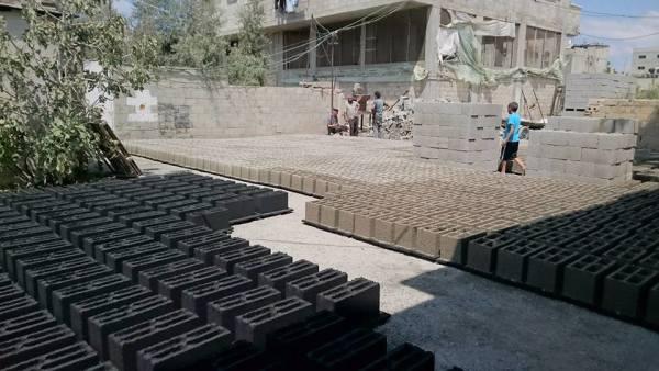 Tijolos feitos com cinzas de Gaza