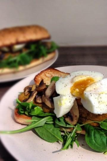 Tofu Sausage and Egg Sub Sandwich