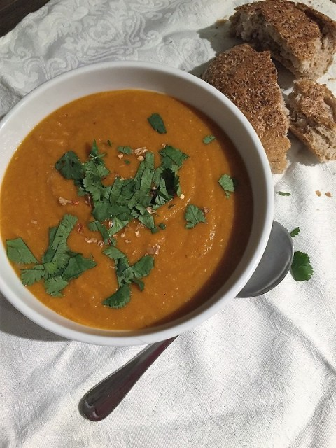 Moroccan Carrot and Lentil Soup