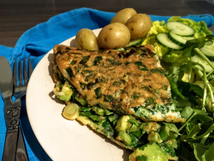 Green Omelette and Green Salad | Vegetarian | Egg Recipes | Sarah Irving | Susty Meals