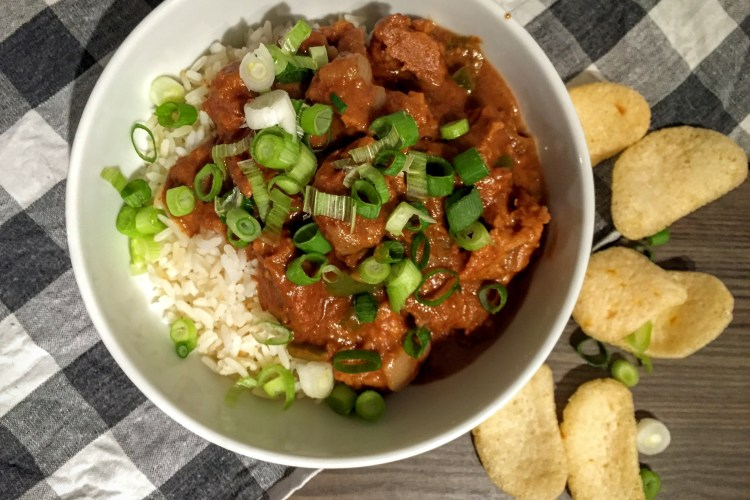 """Slow Cooker Thai Style Peanut """"Chicken"""" Slow Cooker Thai Style Peanut """"Chicken  Vegan Vegetarian Recipes   UK   Sarah Irving   Susty Meals"""