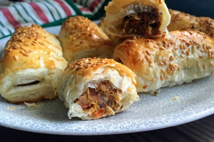 Homemade Vegan Sausage Rolls | Vegan Recipes | Handmade Vegan | Vegan Sausages | Vegan Buffet Food | Christmas Vegan | Sarah Irving | Susty Meals | Vegetarian Food Blogger Manchester