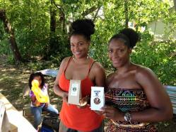 Anja of Qi Elements and Erika of Southern Girl Granola glow with their hand-crafted products