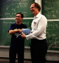 SUTD Associate Provost Prof. Pey presents MIT Associate Provost Prof Ed with a token of appreciation.