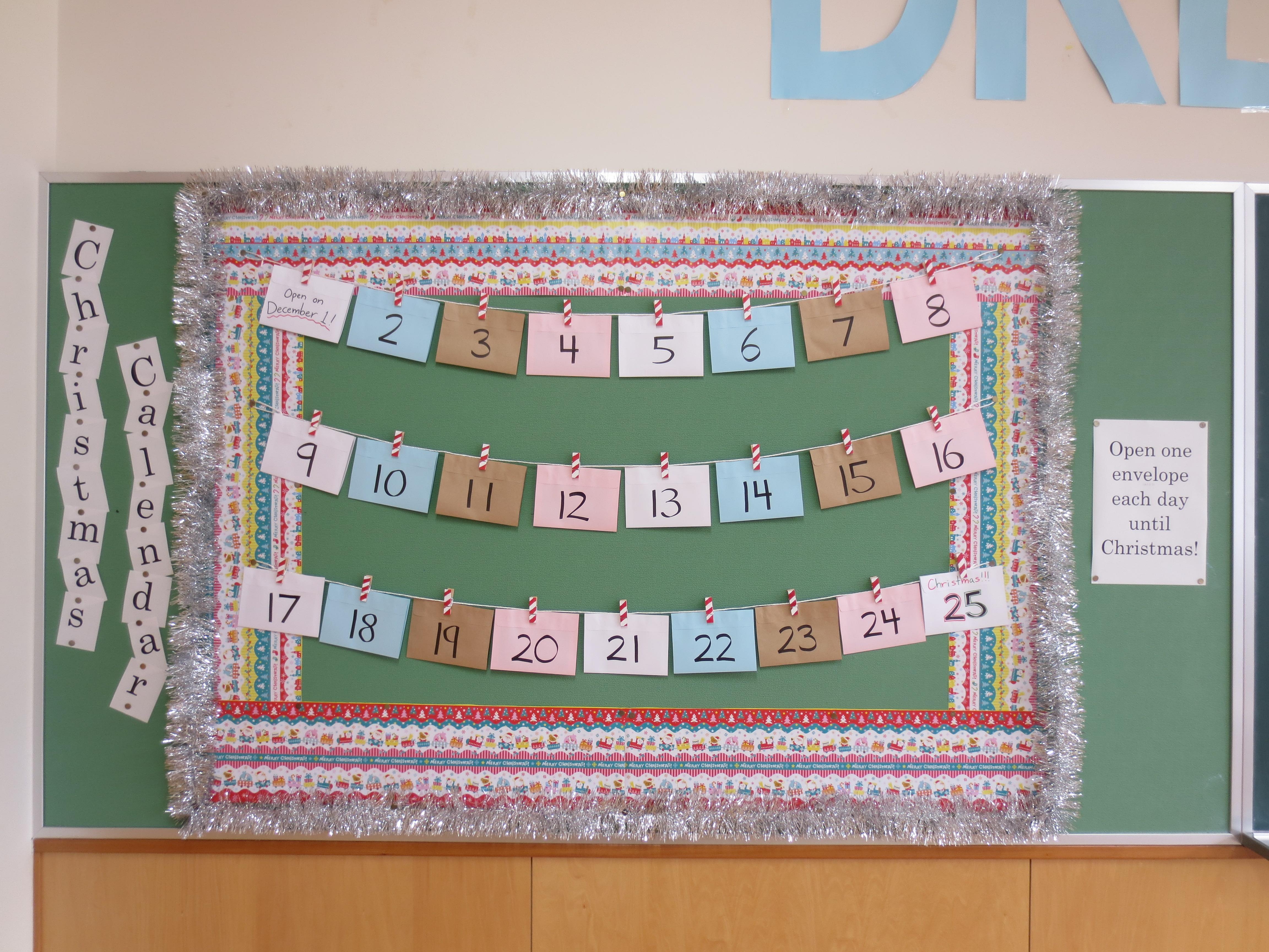 Christmas Bulletin Board Advent Calendar