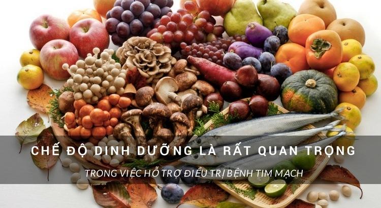 chế động dinh dưỡng quan trọng cho bệnh tim mạch
