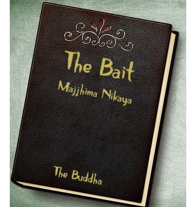 Leather book Cover with The Bait as title