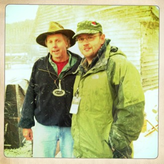 Director of Photography James Suttles with 1st AD Rick Garside on the Set of Alone Yet Not Alone