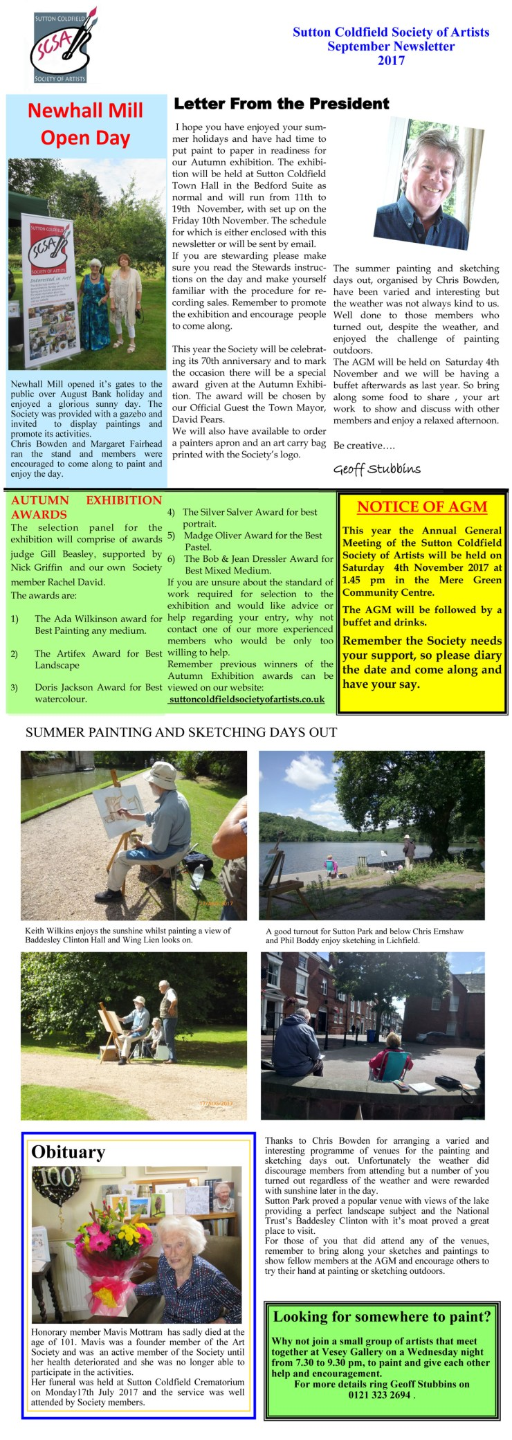 SCSA Newsletter Aug 17