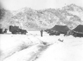 Camp with Snow