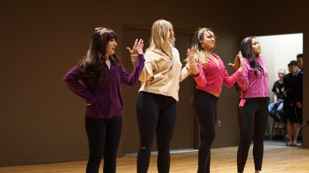 Amy Andre and friends lip-syncing Cheetah Girls. Photo By Mitchell Quartz.