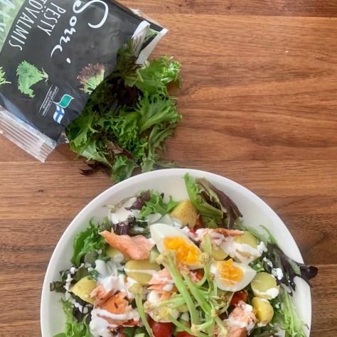 lohi-muna-Sorrin Mixi -salaatti