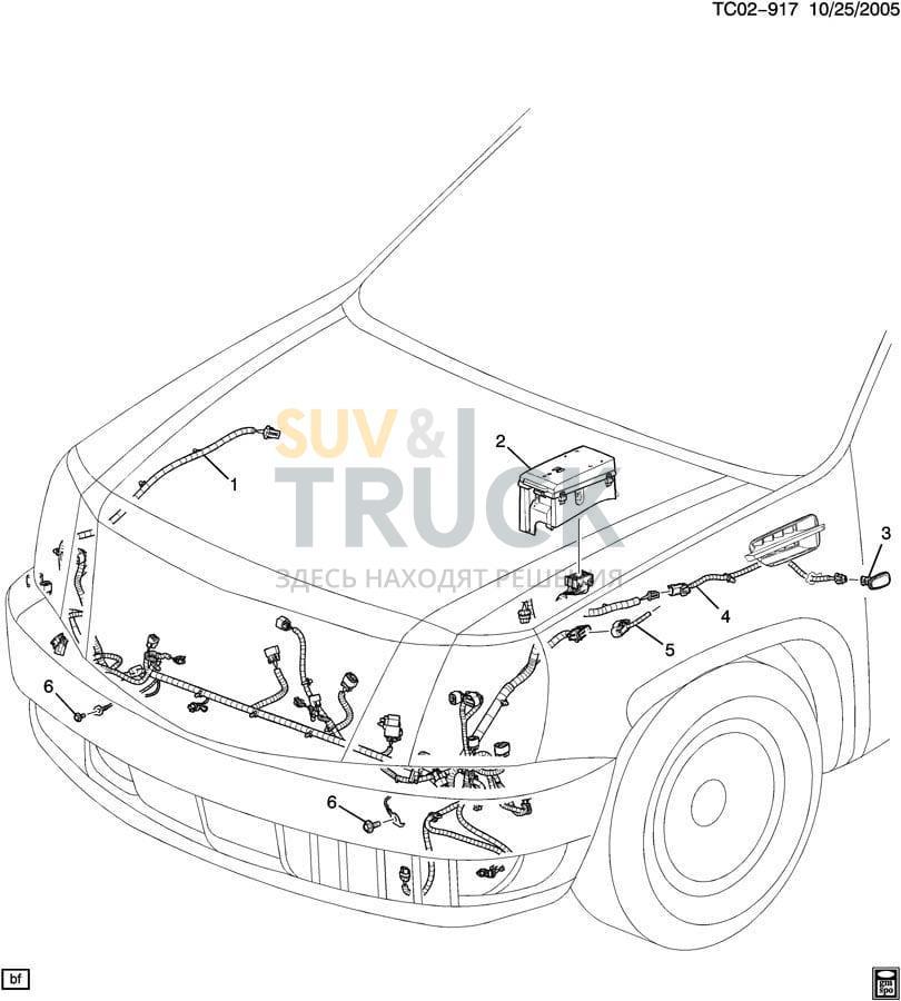 Комплект проводки для Cadillac Escalade 2007-14 для