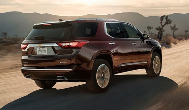 2019 Chevy Traverse rear view
