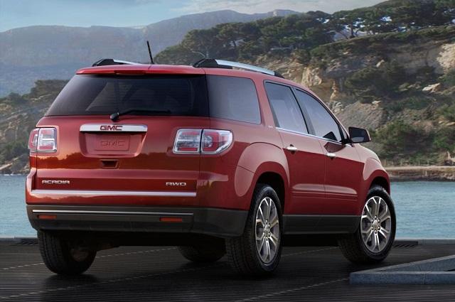 2019 GMC Acadia rear view - 2020, 2021 and 2022 New SUV Models