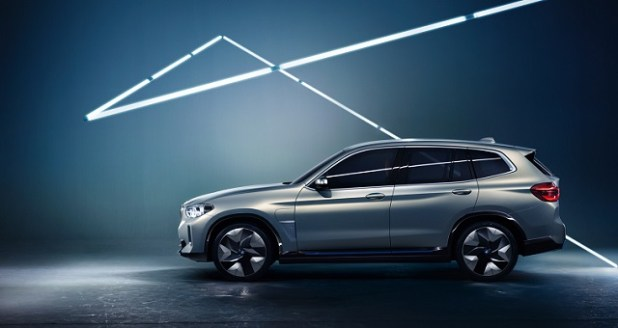 2019 BMW iX3 side view
