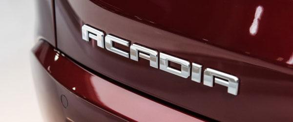 2020 GMC Acadia mark