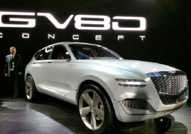 2020 Genesis GV80 SUV front view