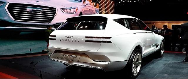 2020 Genesis GV80 SUV rear view - 2019 and 2020 New SUV Models