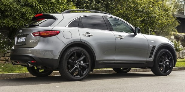 2020 infiniti qx70 rear view