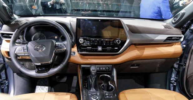 2021 toyota highlander xse, hybrid, interior, platinum