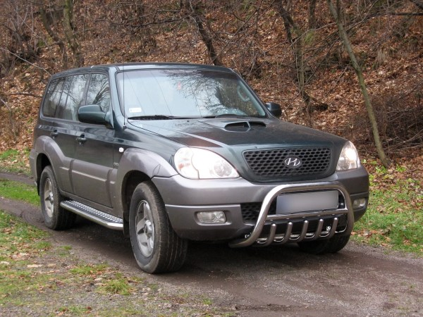 HYUNDAI TERRACAN 2002-2004 MARCHE-PIEDS INOX PLAT / PROTECTIONS LATERALES Hyundai 339,00 €