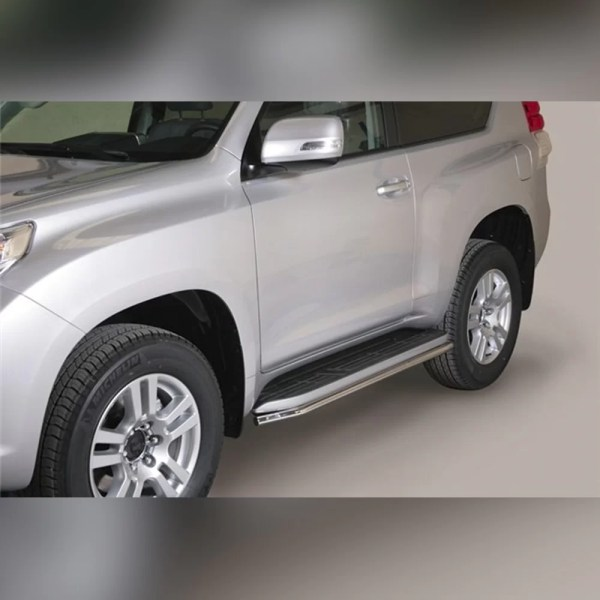 PROTECTION LATERALE INOX SUR TOYOTA LAND CRUISER 150 2014-2017