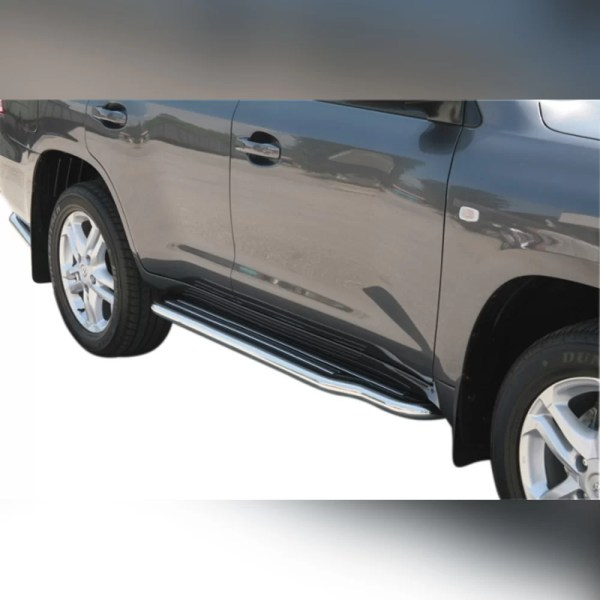 MARCHE-PIEDS INOX P181 SUR TOYOTA LAND CRUISER V8 200 2008-2012