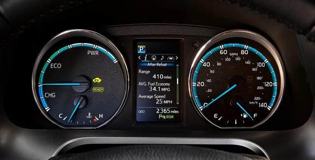 2019 Toyota RAV4 Hybrid dashboard