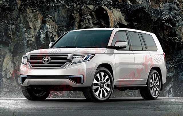 2020 Toyota Land Cruiser spy photos new