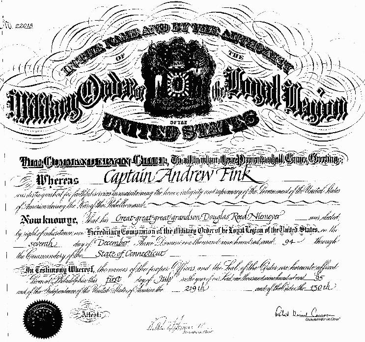 Large Membership Certificate for MOLLUS