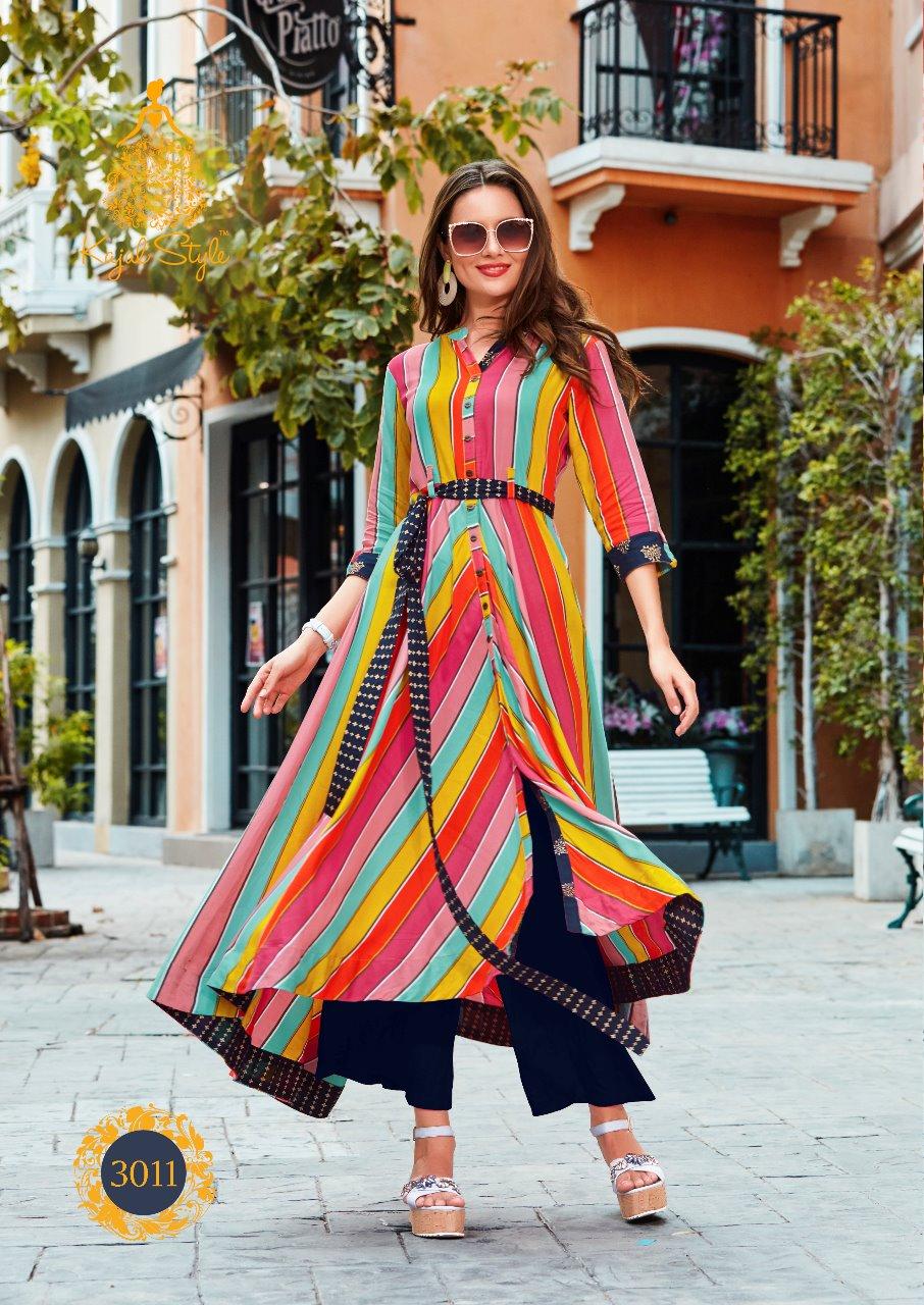 3d8356090e Kajal style fashion season cotton rayon Kurtis - Suvesa- women's ...