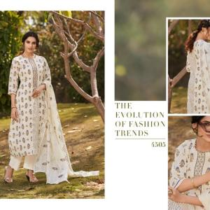 7251241277 Jay Vijay blaze series cotton printed ladies suits 4505