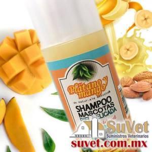 Shampoo para pelo seco y con caspa. plátano & mango Envase de 240 ml - SUVET