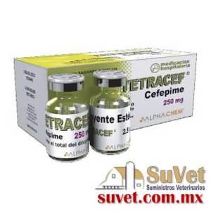 Tetracef con 8 diluyentes con 8 frasco polvos de 250 mg - SUVET