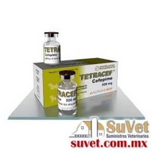 Tetracef con 4 diluyentes con 4 frasco polvos de 500 mg - SUVET